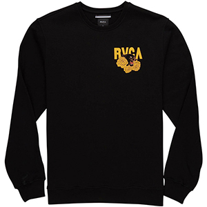 RVCA Panther N Roses Crewneck Sweater Black