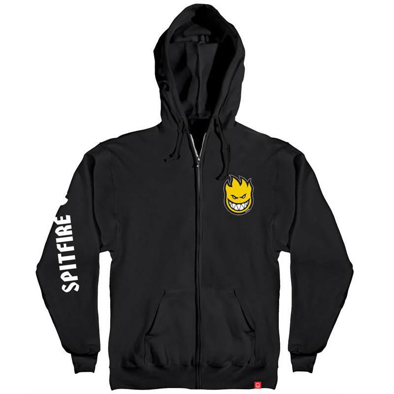 Spitfire Lil Bighead Hombre Zip Up Sweater Black