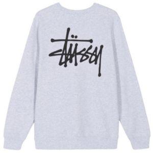 Stussy Basic Crewneck Sweater Ash Heather