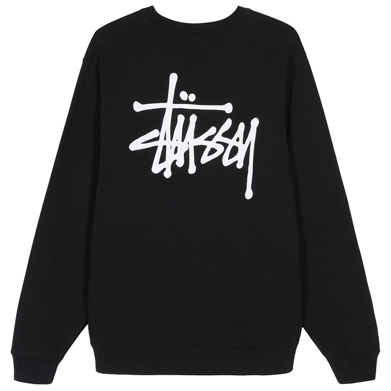 Stussy Basic Crewneck Sweater Black