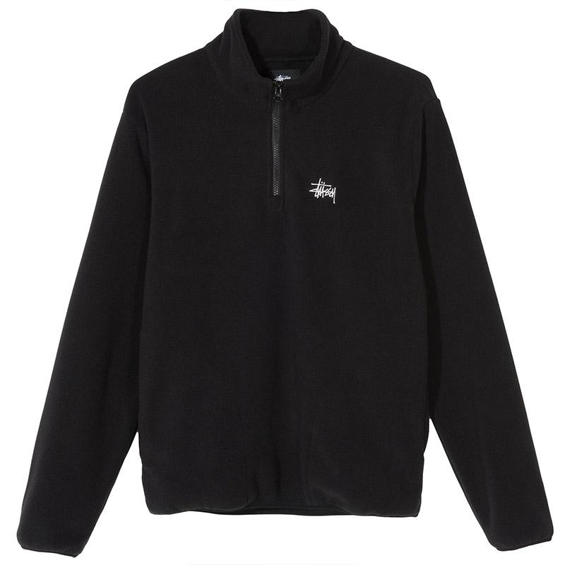 Stussy Basic Polar Fleece Mock Sweater Black