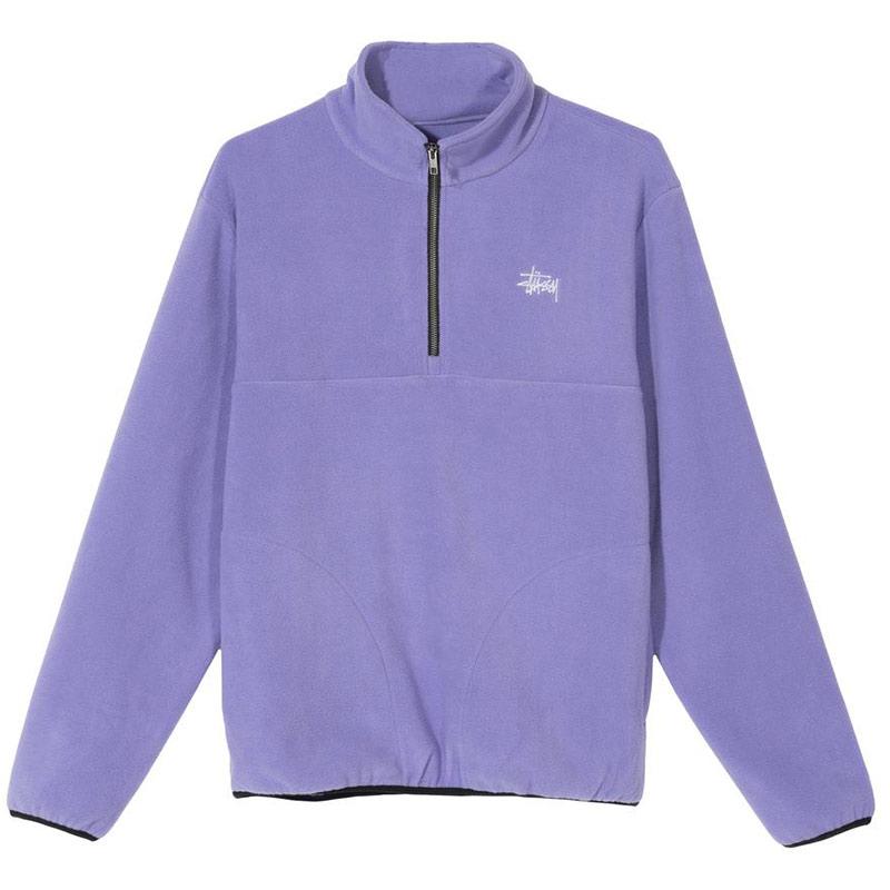 Stussy Basic Polar Fleece Mock Sweater Violet