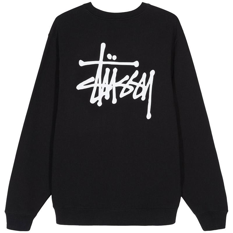 Stussy Basic Stussy Crewneck Sweater Black