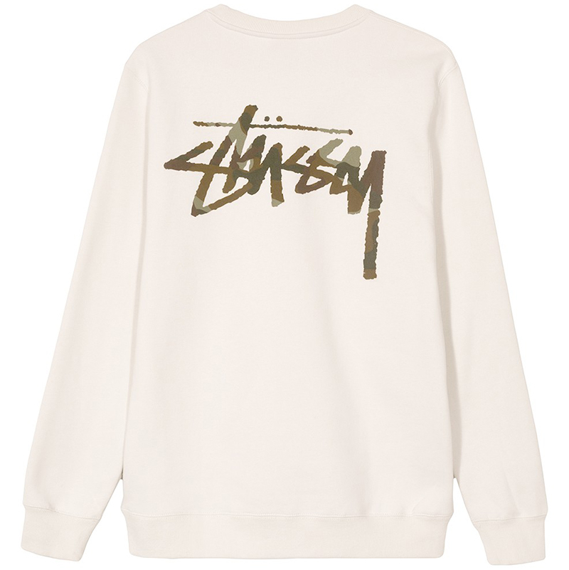 Stussy Camo Stock Crewneck Sweater Stone