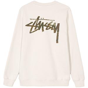 Stussy Camo Stock Crewneck Sweater Stone