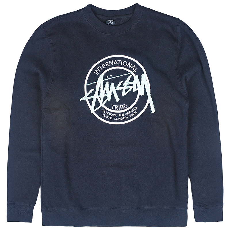 Stussy Ist Dot App. Crewneck Sweater Black