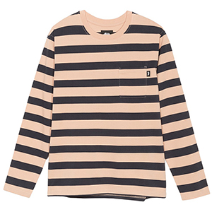 Stussy Malcolm Stripe Crewneck Sweater Peach