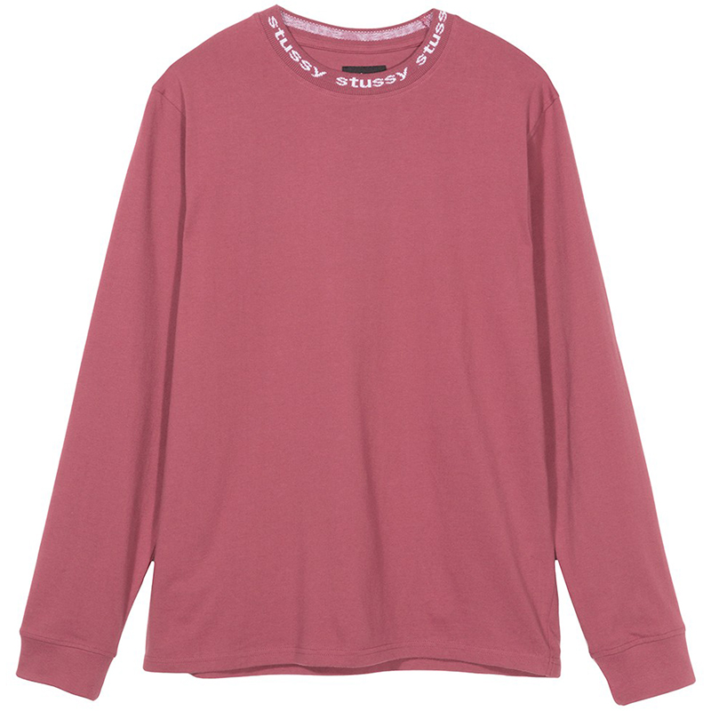 Stussy Owen Crewneck Sweater Maroon