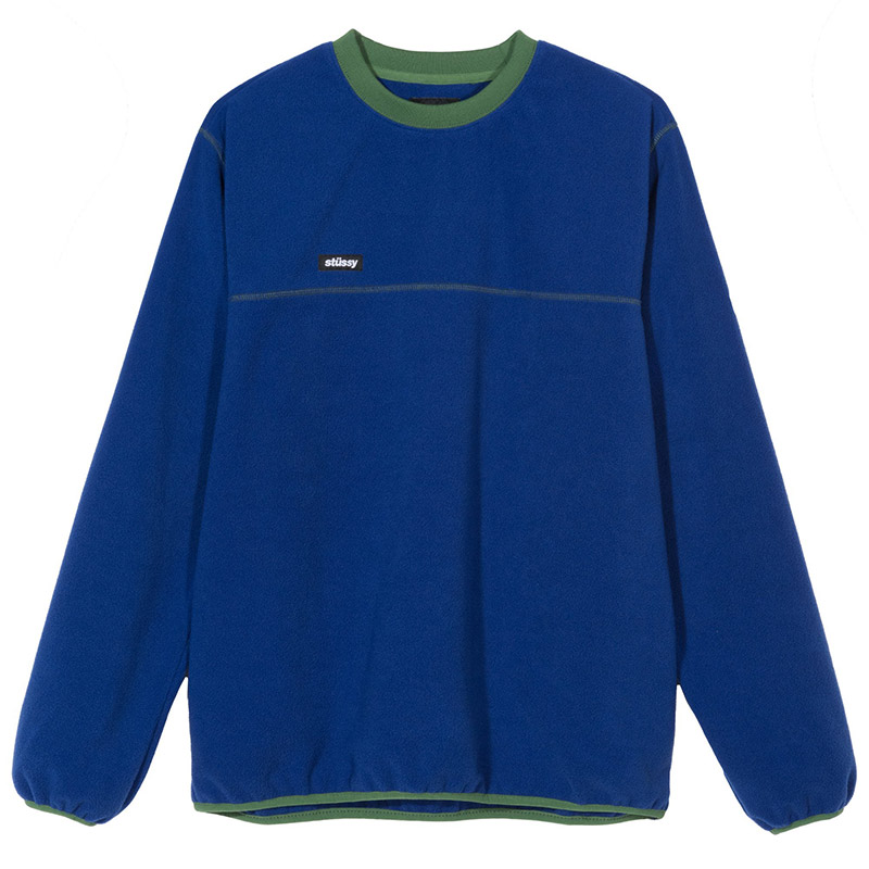 Stussy Polar Fleece Crewneck Sweater Royal