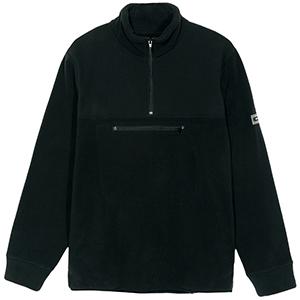 Stussy Polar Fleece Mockneck Sweater Black