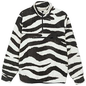 Stussy Polar Fleece Mockneck Sweater Zebra