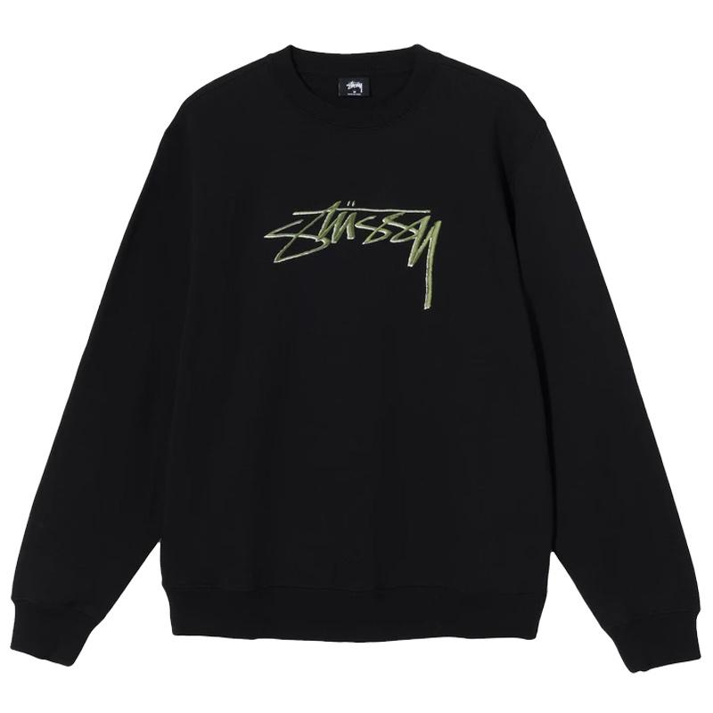 Stussy Smooth Stock App. Crewneck Sweater Black