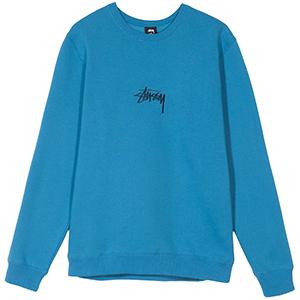Stussy Stock App Crewneck Sweater Ocean