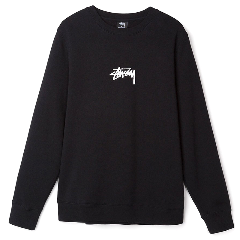 Stussy Stock Crewneck Sweater Black