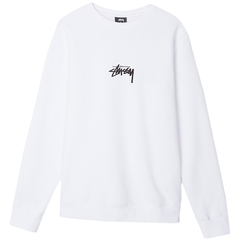 Stussy Stock Crewneck Sweater White