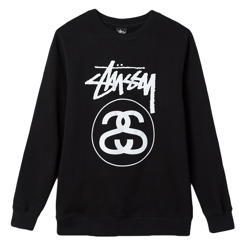 Stussy Stock Link Crewneck Sweater Black