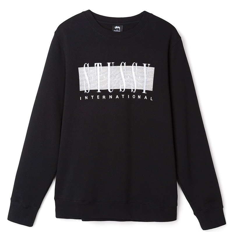 Stussy Stussy Int'L App. Crewneck Sweater Black