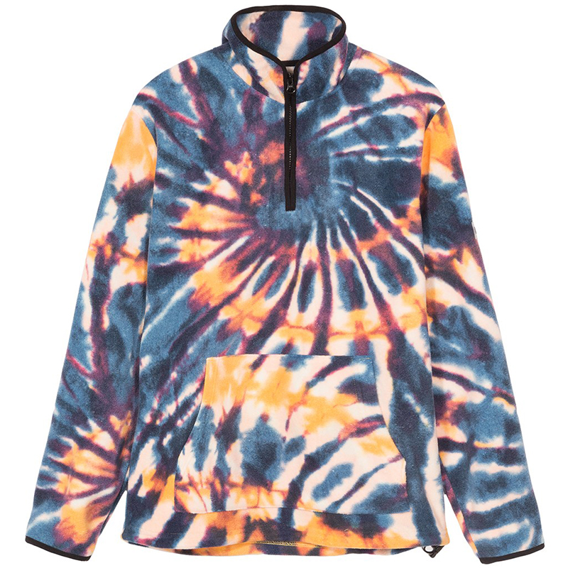 Stussy Tie Dye Polar Fleece Mock Multi