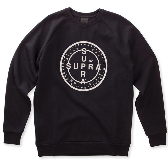 Supra Cross Seal Crewneck Sweater Black
