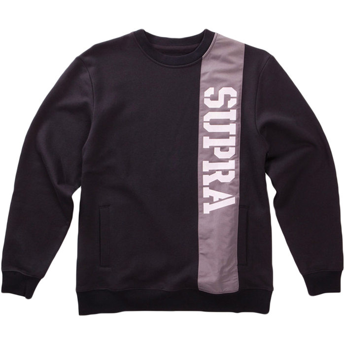 Supra Spar Crewneck Sweater Black