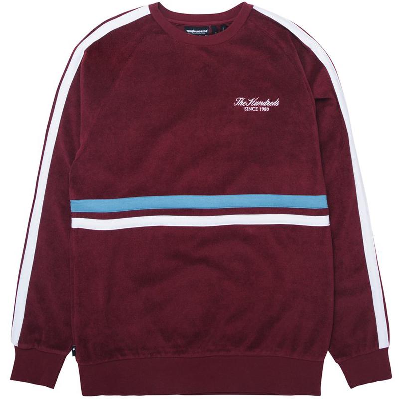 The Hundreds Atwood Crewneck Sweater Burgundy