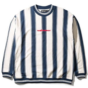 The Hundreds Bars Crewneck Sweater Navy