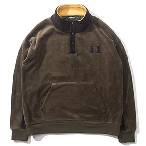The Hundreds Canyon Mockneck Sweater Olive