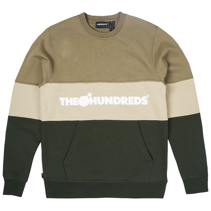 The Hundreds Channel Crewneck Sweater Dusty Olive