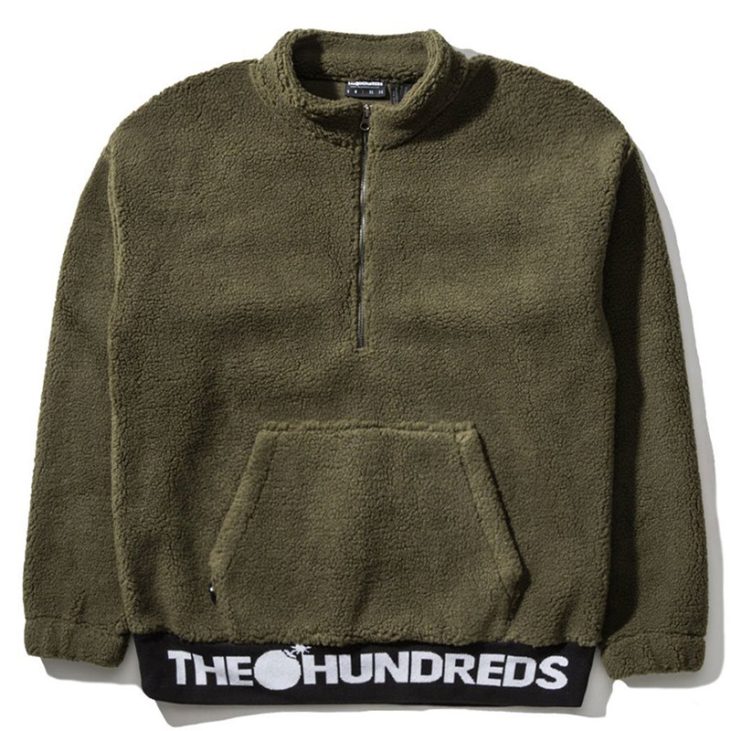 The Hundreds Nepal Halfzip Sweater Olive