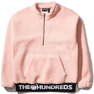 The Hundreds Nepal Halfzip Sweater Salmon