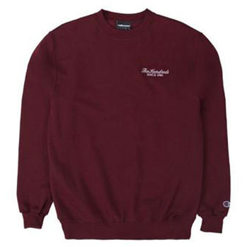 The Hundreds Rich Logo Crewneck Sweater Burgundy