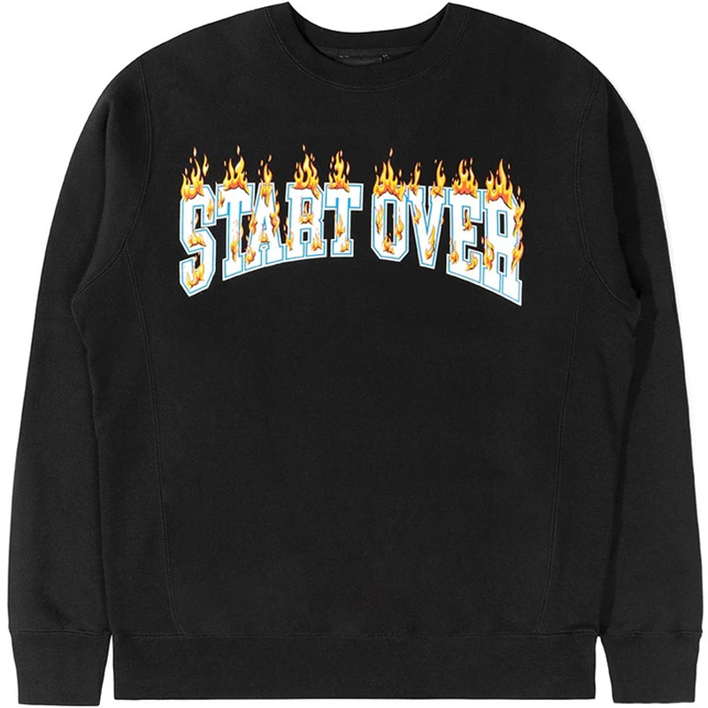 The Hundreds Start Over Crewneck Sweater Black