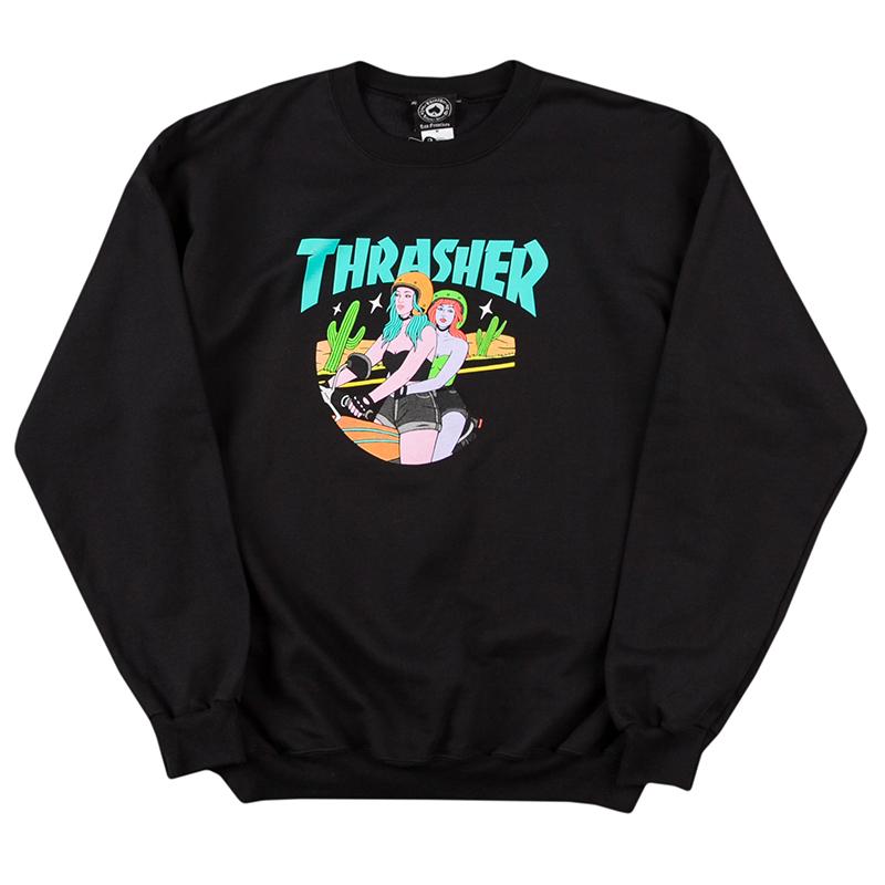 Thrasher Babes Crewneck Sweater Black