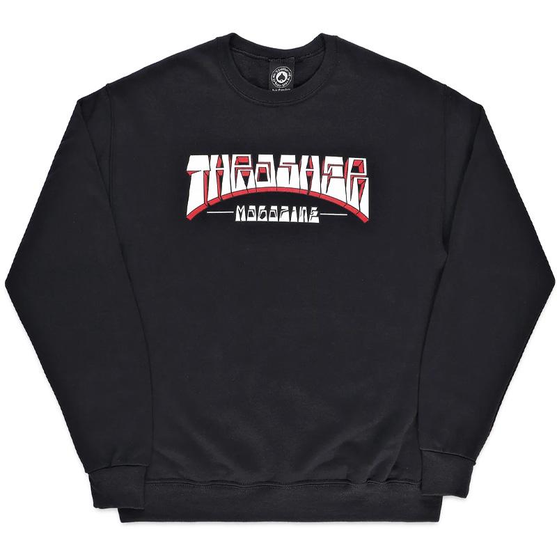 Thrasher Firme Logo Crewneck Sweater Black