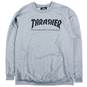 Thrasher Skate Mag Crewneck Sweater Grey