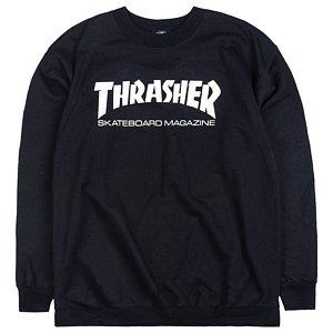 Thrasher Skate Mag Crewneck Sweater Black