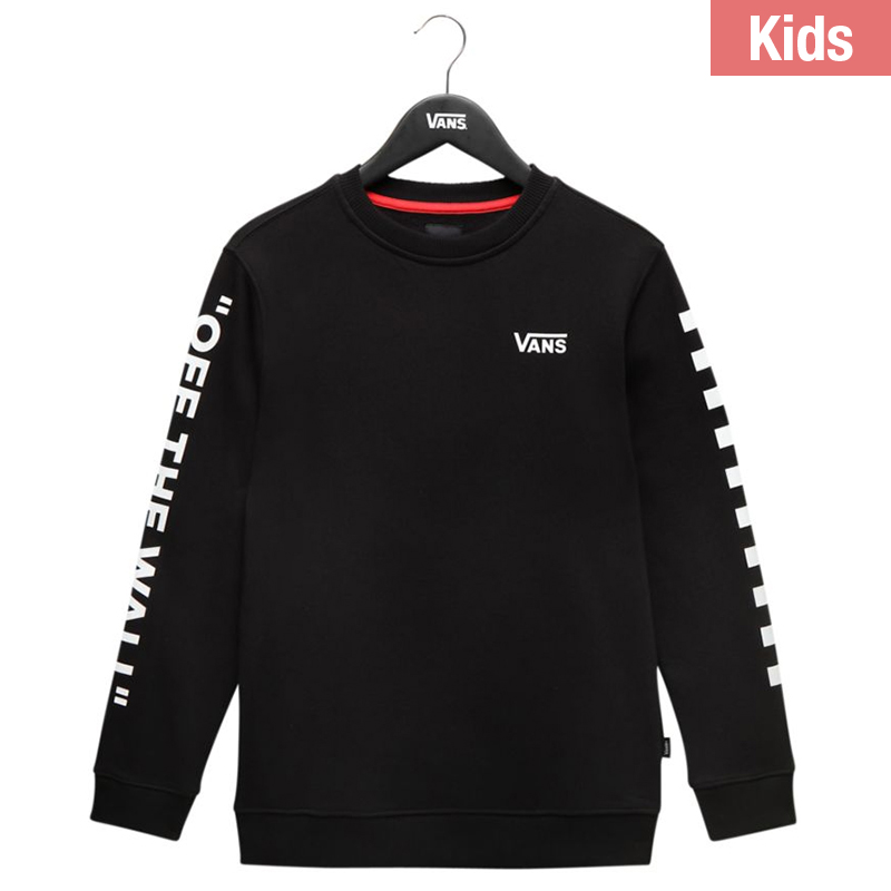 a8d87d7575da3a Vans By Left Check Crewneck Sweater Bla M - Skatestore.com