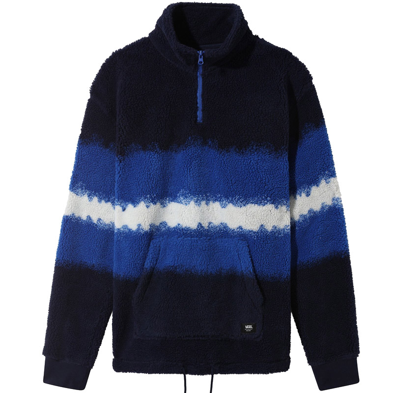 Vans Cozy Sherpa Quarter Zip Sweater Victoria Blue