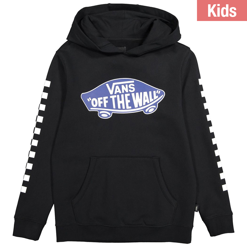 Vans Kids Exposition Checkerboard Hoodie Black/True Blue