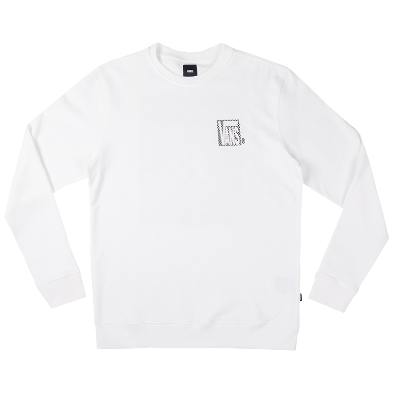 Vans New Checker Crewneck Sweater White