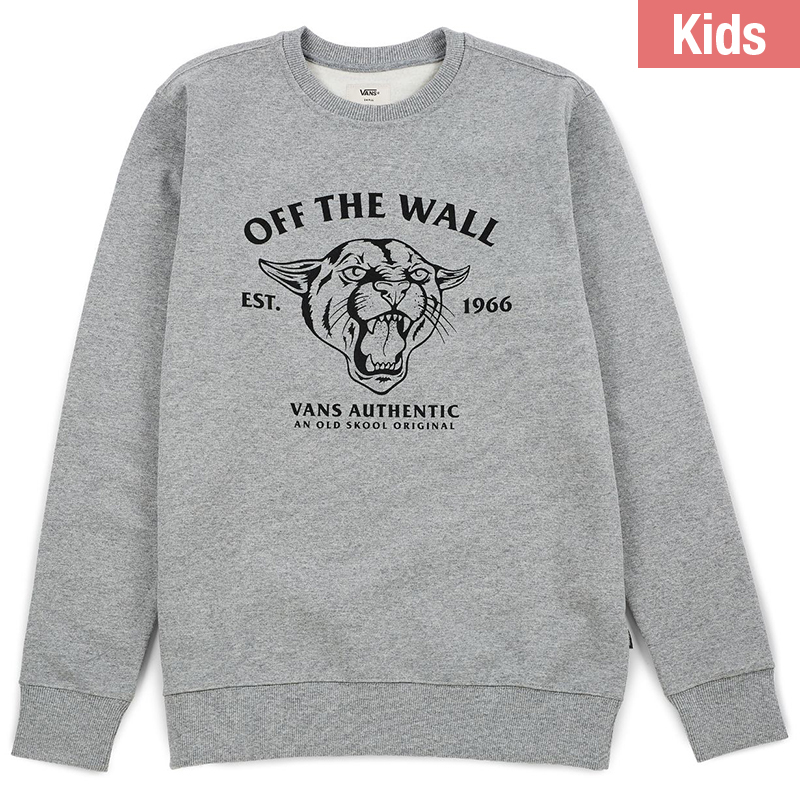 Vans Kids Old Skool Cougar Crewneck Sweater Concrete Heather