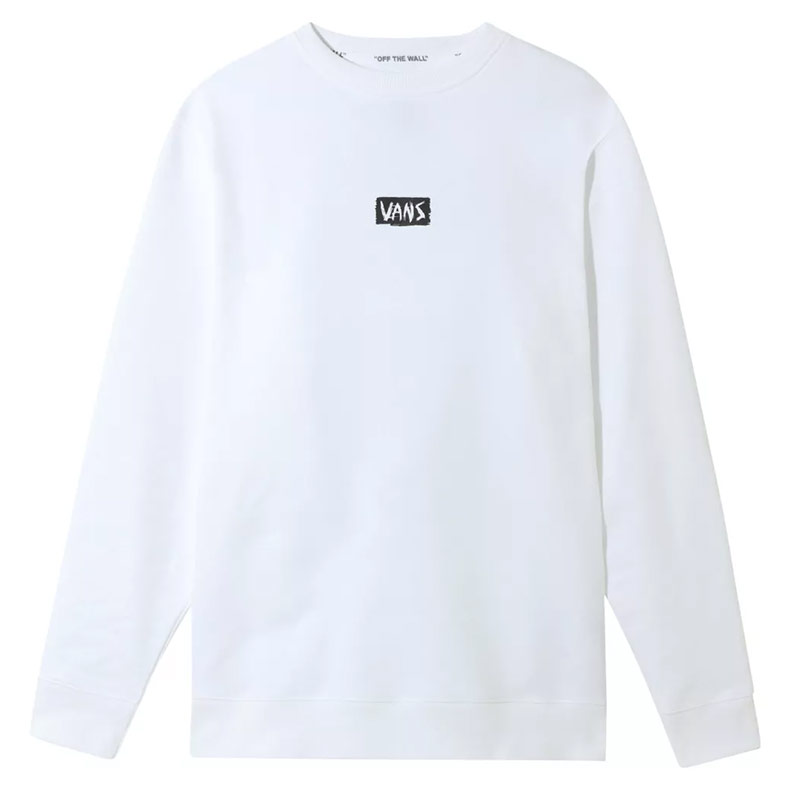 Vans Scratched Crewneck Sweater White