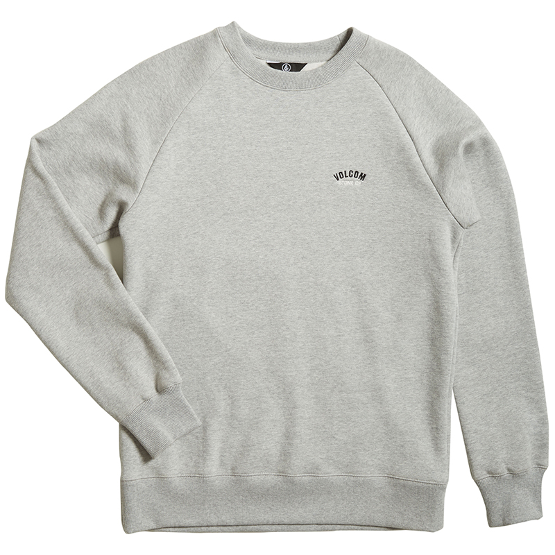 Volcom Inthology Crewneck Sweater Heather Grey