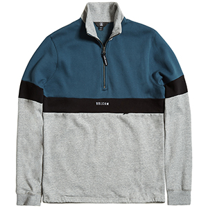 Volcom Rixon Fleece Mockneck Sweater Stone