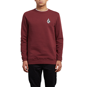 Volcom Supply Stone Crewneck Sweater Crimson