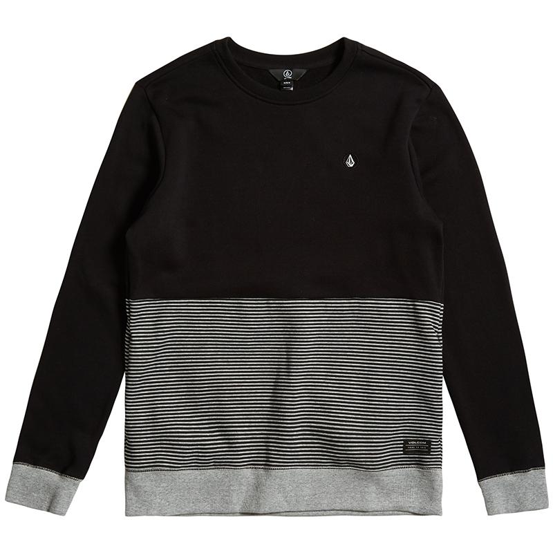 Volcom Threezy Crewneck Sweater Black