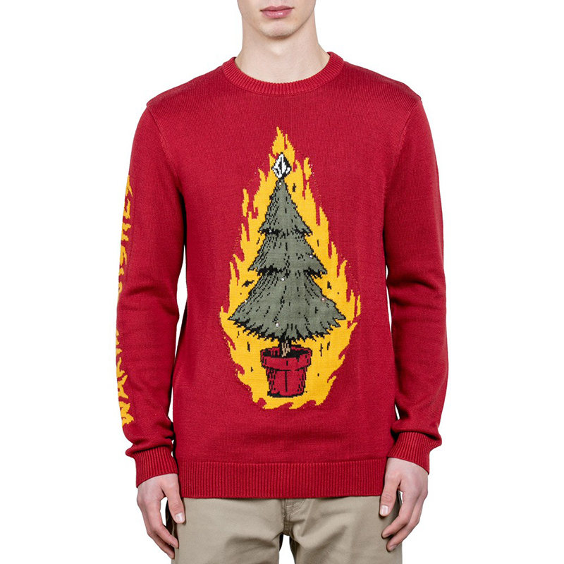 Volcom Warm Wishes Sweater Deep Red