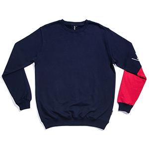Wayward Basque Crewneck Sweater Navy
