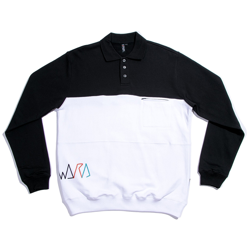 Wayward Cross Roads Warmup Crewneck Sweater Black