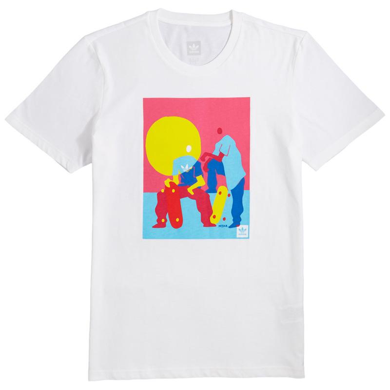 adidas Burrage T-Shirt White/Multco